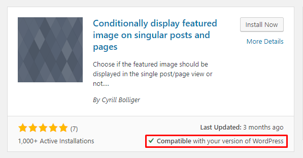 Conditional Display Featured Image